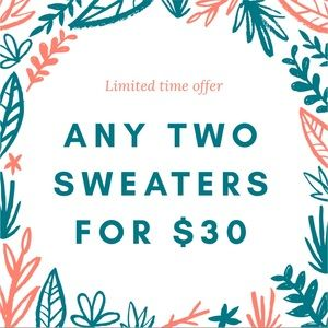 Sweaters - SWEATER DEAL!!